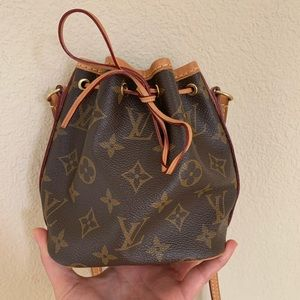 LOUIS VUITTON Nano Noe Drawstring Shoulder Bag
